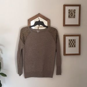 Halogen cashmere embellished sweater